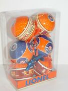 2013 Lionel Train Ornaments Ball Orange Blue Pack Of 6 Christmas Holiday