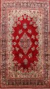 Antique Floral Sarouk Area Rug Dining Room Hand-knotted Palace Size Carpet 12x18