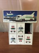 Hess 1999 Toy Truck And Space Shuttle With Satellite New In Boxandnbsp Lot Of Six