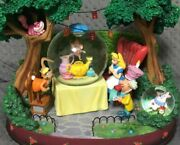 Alice In Wonderland Snow Globe With Music Box Figure Pottery Disney From Japan