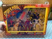 Marvel Spider-man And Carnage 4-pack Of Action Figures - Toy Biz 2001 - Bnib Rare