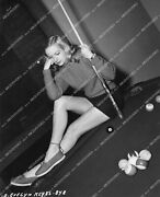 Crp-14463 1947 Beautiful Evelyn Keyes And Great Legs On Pool Table At Home Crp-144