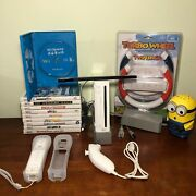 Nintendo Wii 10 Games And System Lot. Wii Remote And More. Wii Sports, Wii Play