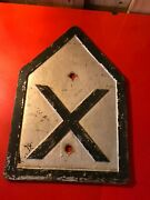 Vintage Cast Iron Sign Plaque Plate Railroad Yard Crossing -