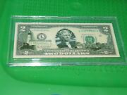 1-2003 / Us State 2.00 Bill Maine In Hard Acrylic Holder. 980