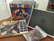 Vintage Lite Brite 1967 In Box With Refill Pages Pegs Hasbro -- Nice Works