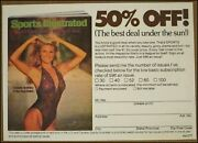 1979 1980 Sports Illustrated Subscription Card Christie Brinkley Swimsuit Rare