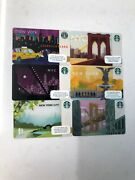 6 X Starbucks New York City Nyc Gift Cards New. Collectible Excellent Condition