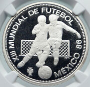 1986 Portugal Mexico Soccer Football World Cup Silver 100 Escud Coin Ngc I86015
