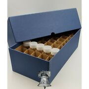 Nickel Cent Tube Storage Box Coin Holder Heavy Duty + 50 Clear Case Tubes