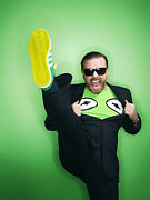 Ricky Gervais Wardrobe And Photos - Muppets Most Wanted - London Times Photo Shoot
