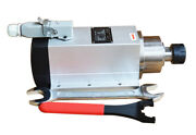 Square Spindle Motor With Flange 220v 2.2kw Er25 Without Frequency Converter New