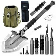 Tactical Shovel W/military Pouch And Handle Extension   Premier Us Distributor