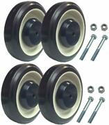 Set Of 4 Replacement Shopping Cart Caster Wheels With Hardware 5 Diameter
