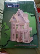 New - Puzzled Gothic House Wood Puzzle - Ages 9+   1+ Players