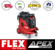 Flex Tools Vce 44h Ac Safety Vacuum Cleaner Wet Dry Industrial Bagless 24mth Wty