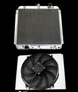 3 Row Aluminum Radiator Shroud And 16 Fan 67 68 69 70 Ford Mustang Falcon Comet