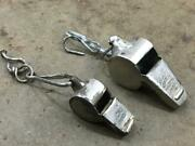 Vintage Old Unique Sound 2 Pc. The Acme Thunder Metal Rare Whistle.collectible