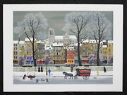 Michel Delacroix Original Lithograph Notre-dame Paris Hand Signed And Numbered