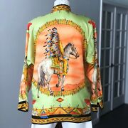 Gianni Versace Silk Shirt Native Americans Print Size It 46 From Fw 1992/93