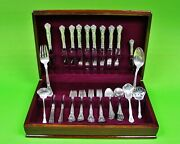 Chantilly By Gorham Sterling Silver Flatware Set For 8, 59 Pieces.