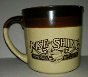 Vintage 1984 Hardees Rise And Shine Homemade Biscuits Coffee Cup Mug