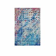 4and039x6and0391 The Peacock Sari Silk Colorful Hand Knotted Oriental Rug G59245