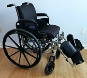 Invacare Tracer Sx5 Foldable Wheelchair W/seat Cushion Calf Pads Pre-owned