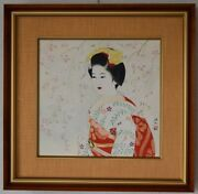 Ukiyoe Artist Ito Shinsui Authenticity Assurance Flowers And Maiko From Japan 6p