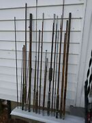 Bamboo Fly Rods Parts Lot Of 21