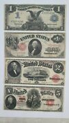 United States Large Note Legal Tender 1899 1907 1917 Silver 1 2 5/ Us Note