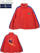 Used 1990and039s Cookie Patch And Downhill Skier Down Jacket L Size