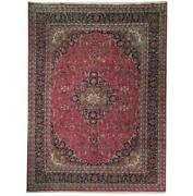 Fascinating 10x13 Authentic Hand Knotted Semi-antique Rug B-71059