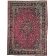 Fascinating 10x13 Authentic Hand Knotted Semi-antique Rug B-71077