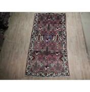 Pristine 5x10 Hand Knotted Semi-antique Bakhtiari Wool Rug Red B-74499