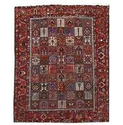 Pristine 11x14 Authentic Hand Knotted Bakhtiari Wool Rug Brown B-80707