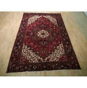 7x10 Authentic Hand Knotted Semi-antique Rug B-73161