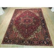 9x11 Authentic Hand Knotted Semi-antique Rug B-73884
