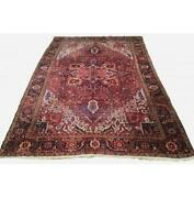 10x13 Authentic Hand-knotted Antique Oriental Wool Rug Red B-79943