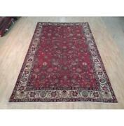 7x11 Authentic Hand Knotted Semi-antique Rug B-71962