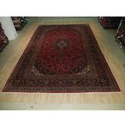 10x14 Authentic Hand Knotted Semi-antique Wool Rug Red B-73596