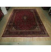 10x13 Authentic Hand Knotted Semi-antique Wool Rug Red B-73587