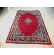 7x11 Authentic Hand Knotted Semi-antique Rug B-72089
