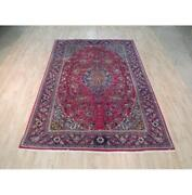 7x10 Authentic Hand Knotted Semi-antique Rug B-71975