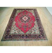 8x12 Authentic Hand Knotted Semi-antique Wool Rug Pink B-73014