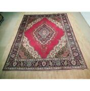 10x13 Authentic Hand Knotted Semi-antique Wool Rug Red B-72882