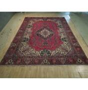 10x14 Authentic Hand Knotted Semi-antique Wool Rug Red B-74433