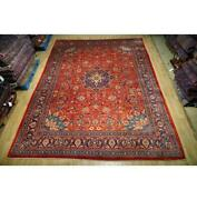 10x14 Authentic Hand Knotted Semi-antique Wool Rug Red B-74668