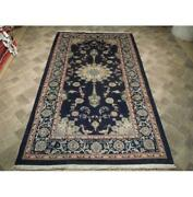 6x10 Authentic Hand Knotted Signed Sheik Safi Wool Rug Black B-73912
