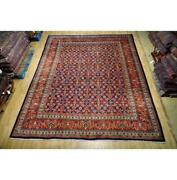 10x12 Hand Knotted Semi-antique Herati Wool Rug Red B-74648